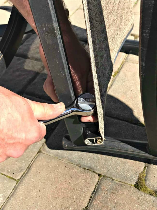 repair broken patio chair