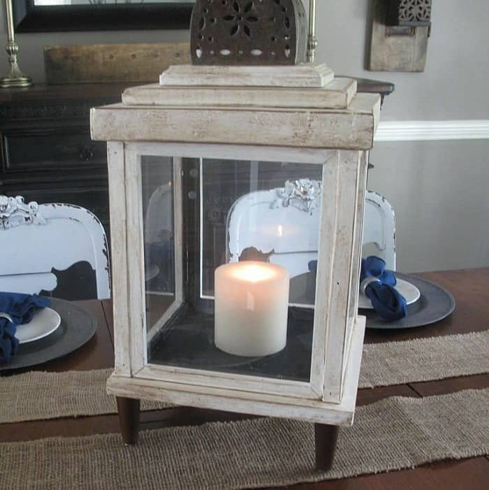 rustic lanterns, wooden frame lanterns, DIY Lanterns, repurposed lanterns