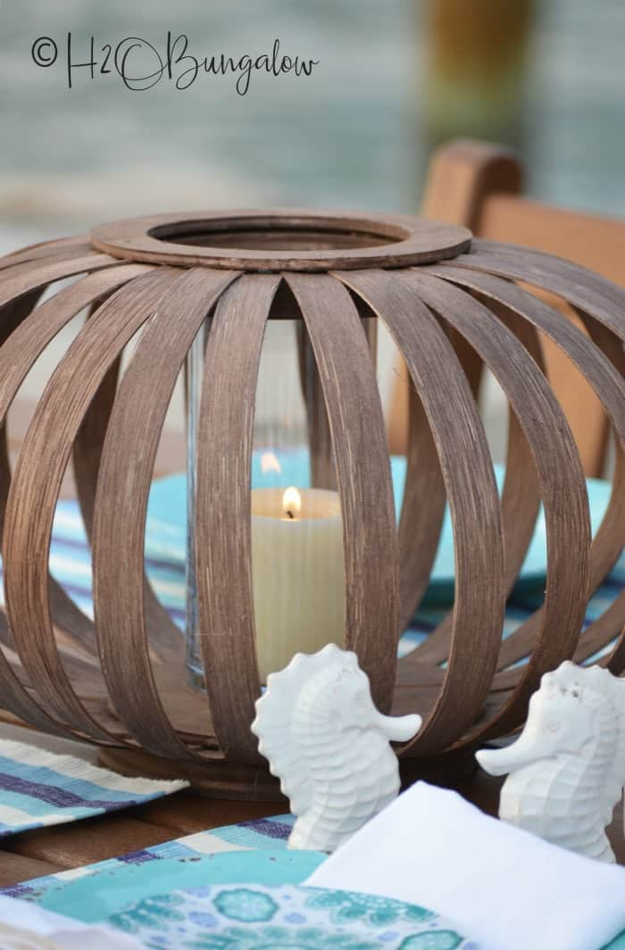 DIY Lanterns, wooden lanterns, lantern centerpiece,