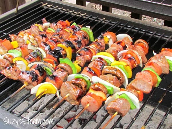 beef shish kebabs, shish kebab recipe, Campfire Dinner Recipes, easy camping food, fun camping food
