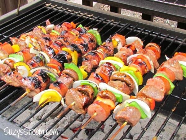 beef shish kebabs, shish kebab recipe, Campfire Dinner Recipes, easy camping food, fun camping food