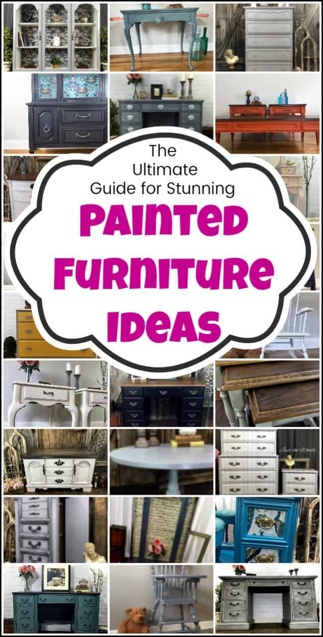 When it comes to painted furniture ideas it is easy to get overwhelmed. I can help make your search for painted furniture ideas easier. Whether you are looking for painted table ideas, painted dresser ideas or painted desk ideas here are some of the best painted furniture makeovers to inspire you. #paintedfurnitureideas #paintedfurniture #chalkpaintideas #chalkpaintfurnitureideas #paintingideas