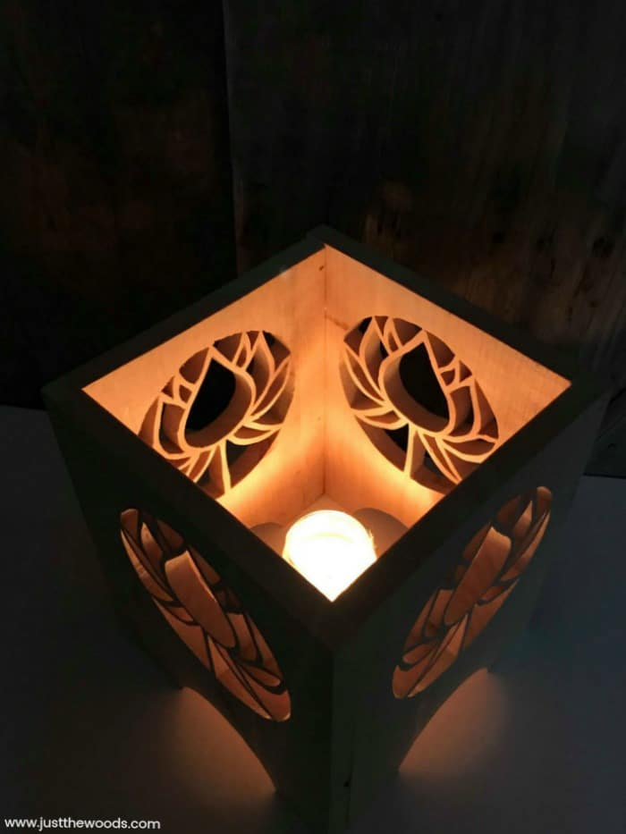 how to make a lantern, how to make a wooden lantern, scroll saw project, candle lanterns, wooden candle lantern, diy lantern