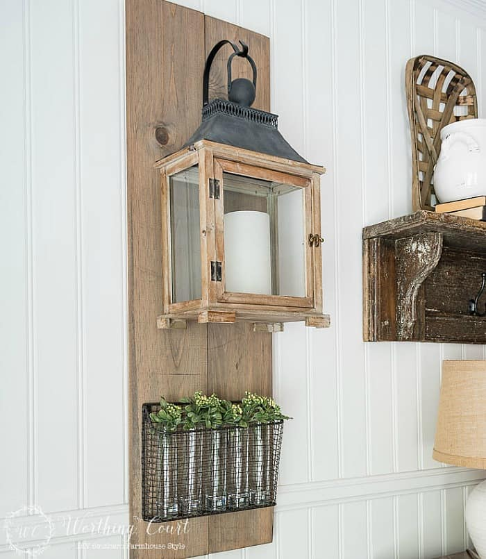 DIY Lanterns, hanging lanterns, rustic lanterns, wooden lanterns, farmhouse lantern,
