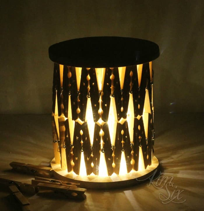 clothespin lantern, diy lanterns, how to make a diy lantern, make a lantern with clothespins