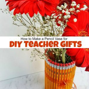 How to Make a Pencil Vase for Adorable DIY Teacher Gifts