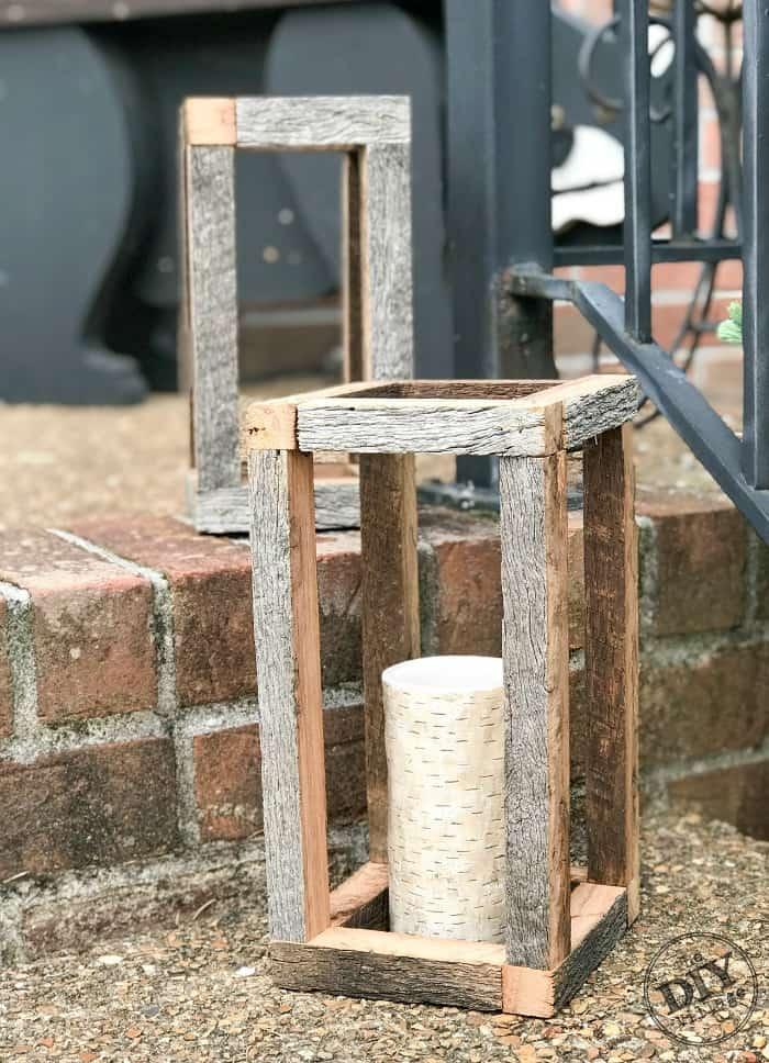 DIY Lanterns, barn wood lantern, scrap wood lantern, rustic lantern