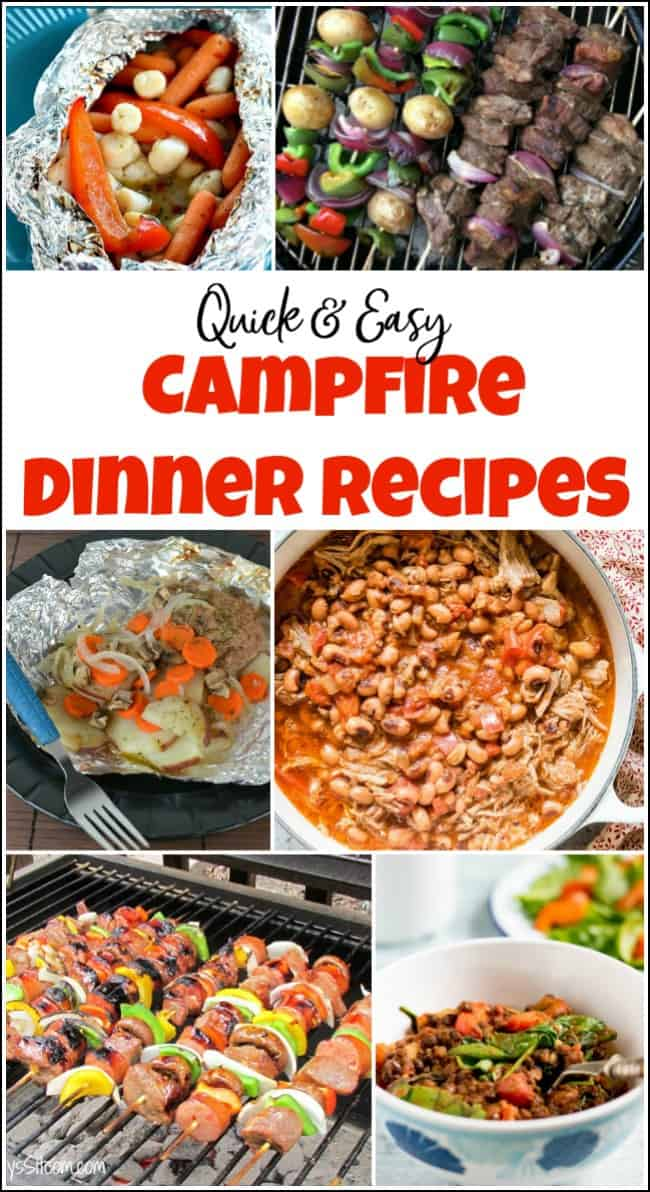 Campfire dinner recipes that you will love. When you need camping dinner ideas check out these easy campfire cooking recipes to make planning your camping trip that much easier. #campfirerecipes #campingfood #campfiredinners #easycampingdinners #foodforcampingtrips #campingrecipes #campfiremeals