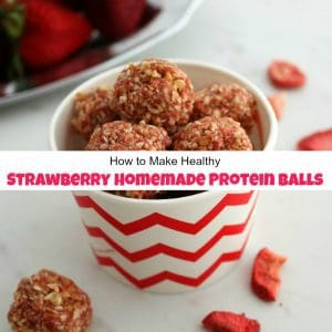 How to Make Healthy Strawberry Homemade Protein Balls