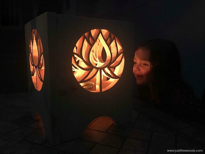 diy lantern, outdoor lanterns, wooden lanterns, backyard lantern, candle lantern