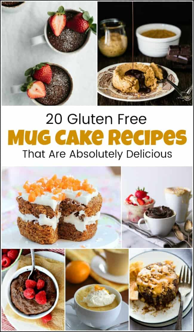 Delicious mug cake recipes to satisfy your sweet tooth. Gluten free mug cake recipes that are both healthy and delicious. Who knew gluten free cake in a mug could taste so good, you wouldn't even know that these are gluten free mug cake recipes. The gluten free chocolate mug cake is amazing. #glutenfreemugcake #mugcake #mugcakerecipes #glutenfreecakeinamug #mugcakerecipe #glutenfreecake
