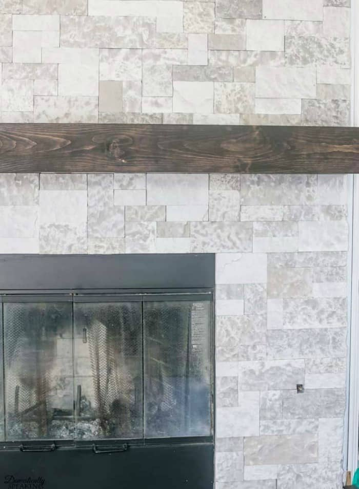 diy tools, rustic fireplace mantel