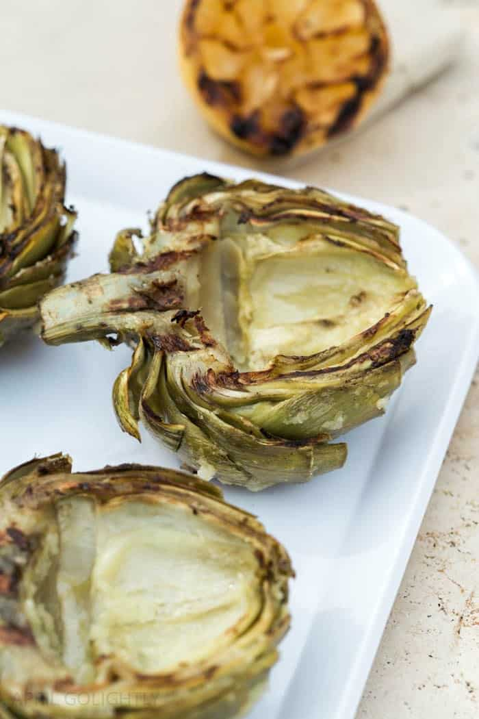 grilled artichoke, summer grilling ideas, healthy grill recipes