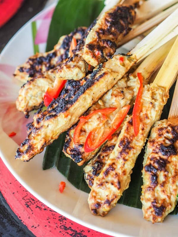grilled fish skewers recipe, summer grilling ideas