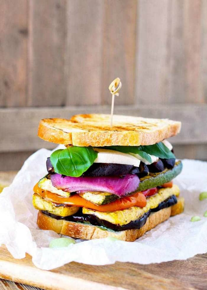 grilled veggie sandwich, summer grilling ideas