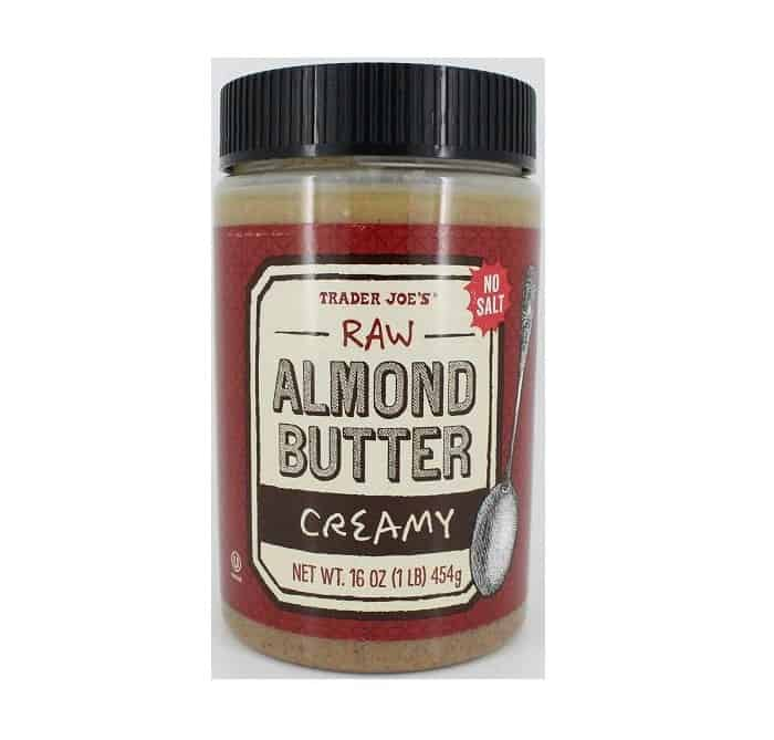 almond butter, no sugar almond butter, trader joes almond butter, raw almond butter