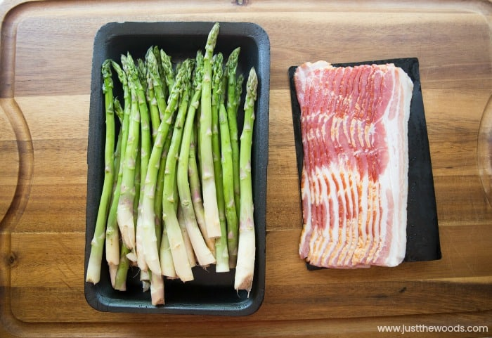 how to make bacon wrapped asparagus, asparagus and bacon