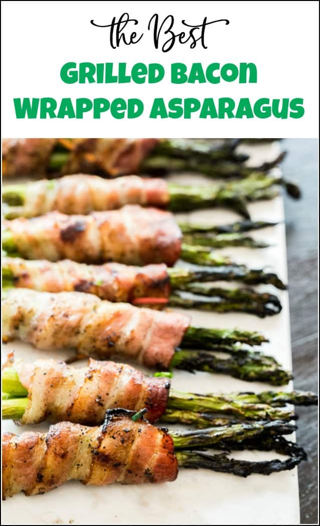 Deliciously grilled bacon wrapped asparagus recipe to impress your guests and satisfy your taste buds because everyone loves bacon. #baconwrappedasparagus #baconwrappedasparagusrecipe #homeright #electrolight #grilledasparaguswithbacon #baconasparagus