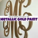 How to Update Your Decor with the Best Metallic Gold Paint