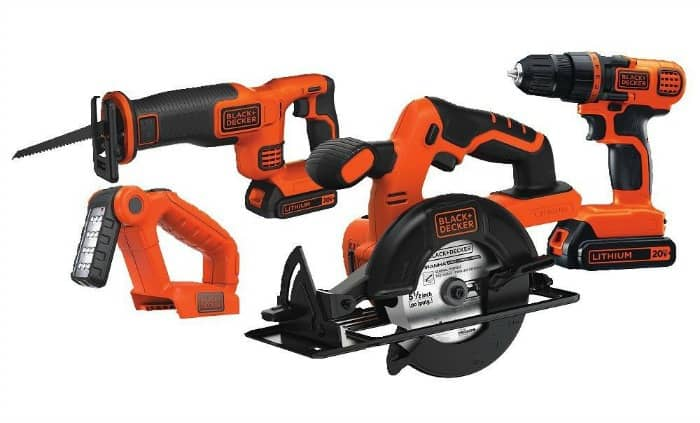 black and decker tools, orange tools, power tool kit, power tool set, must have power tools