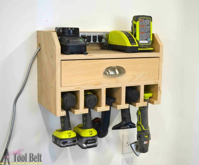 diy tools, woodworking projects, cordless drill charging station
