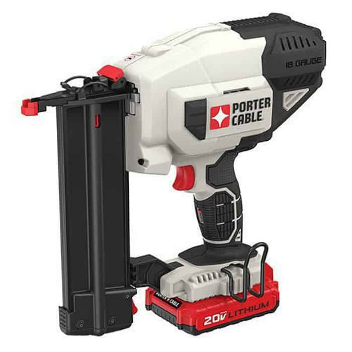 porter cable, brad nailer, cordless nailer, power nailer, diy tools, battery power nailer