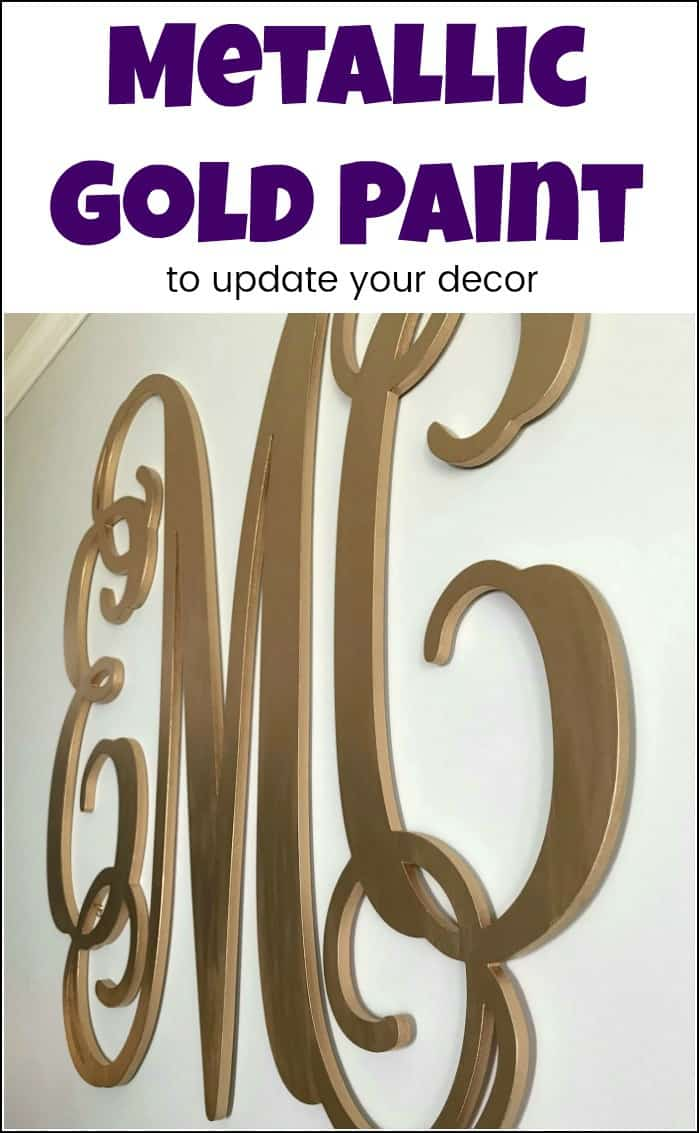 Update your decor with metallic gold paint. This liquid gold leaf is the best gold paint. It's easy to use & perfect for all of your DIY & craft projects. #metallicgoldpaint #liquidgoldleaf #goldpaint #metallicgoldpaint