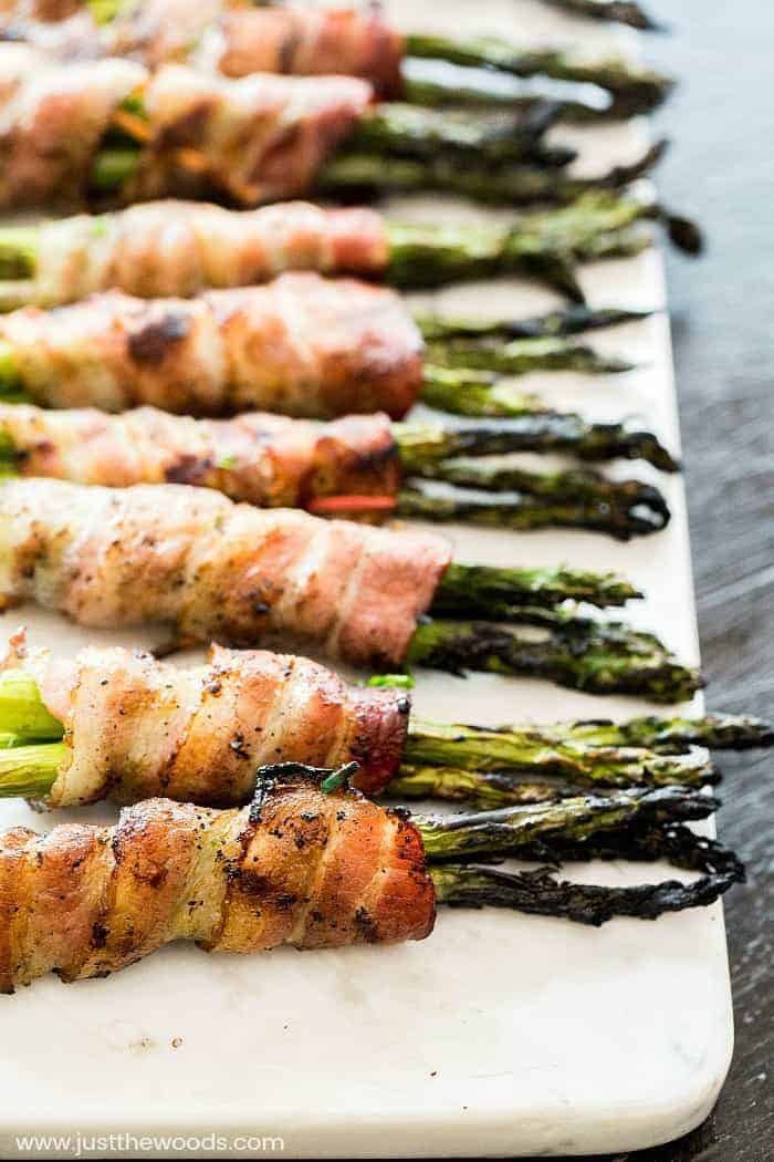summer grilling ideas, grilled bacon wrapped asparagus recipe