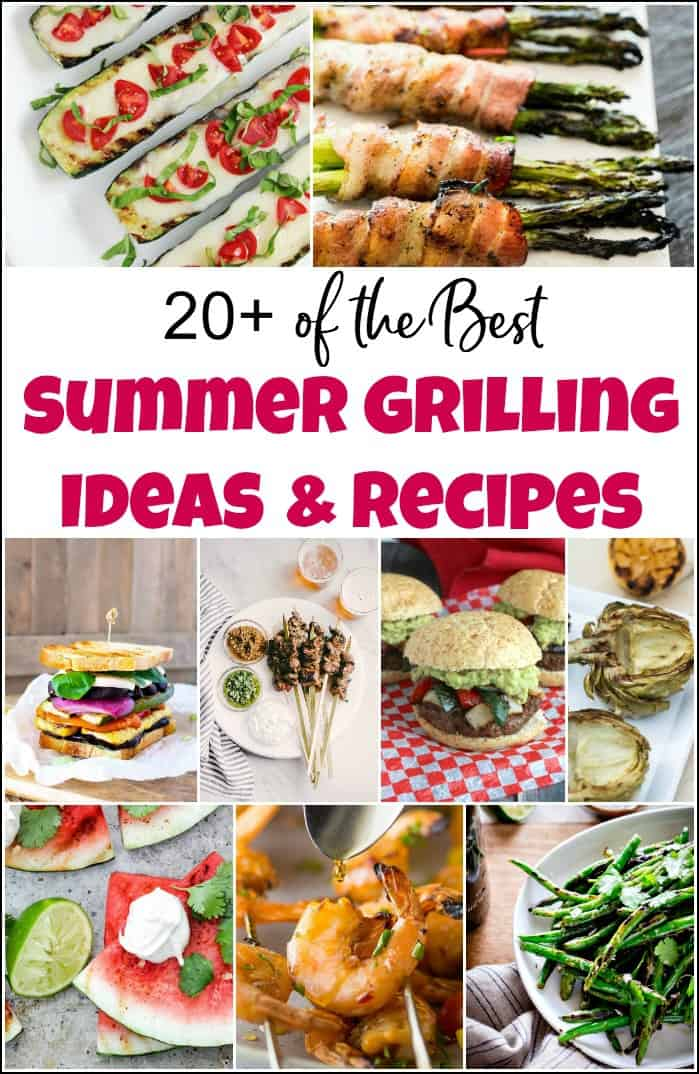 When you need delicious summer grilling ideas these are some of the best summer grill recipes you can find. You'll want to add them all to your cookout menu. #summergrillingideas #summergrillrecipes #grillingrecipes #grillfood #cookoutfood #healthygrillrecipes