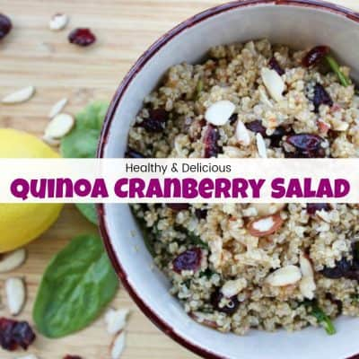 The Most Delicious and Healthy Quinoa Cranberry Salad