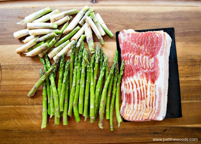 asparagus and bacon, bacon and asparagus