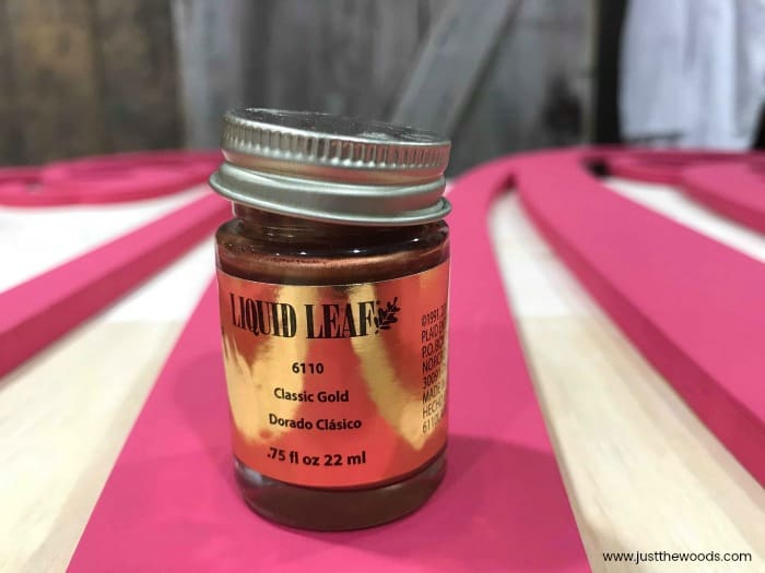 liquid leaf paint, liquid gold leaf, metallic gold leaf paint, metallic gold paint, classic gold, plaid crafts