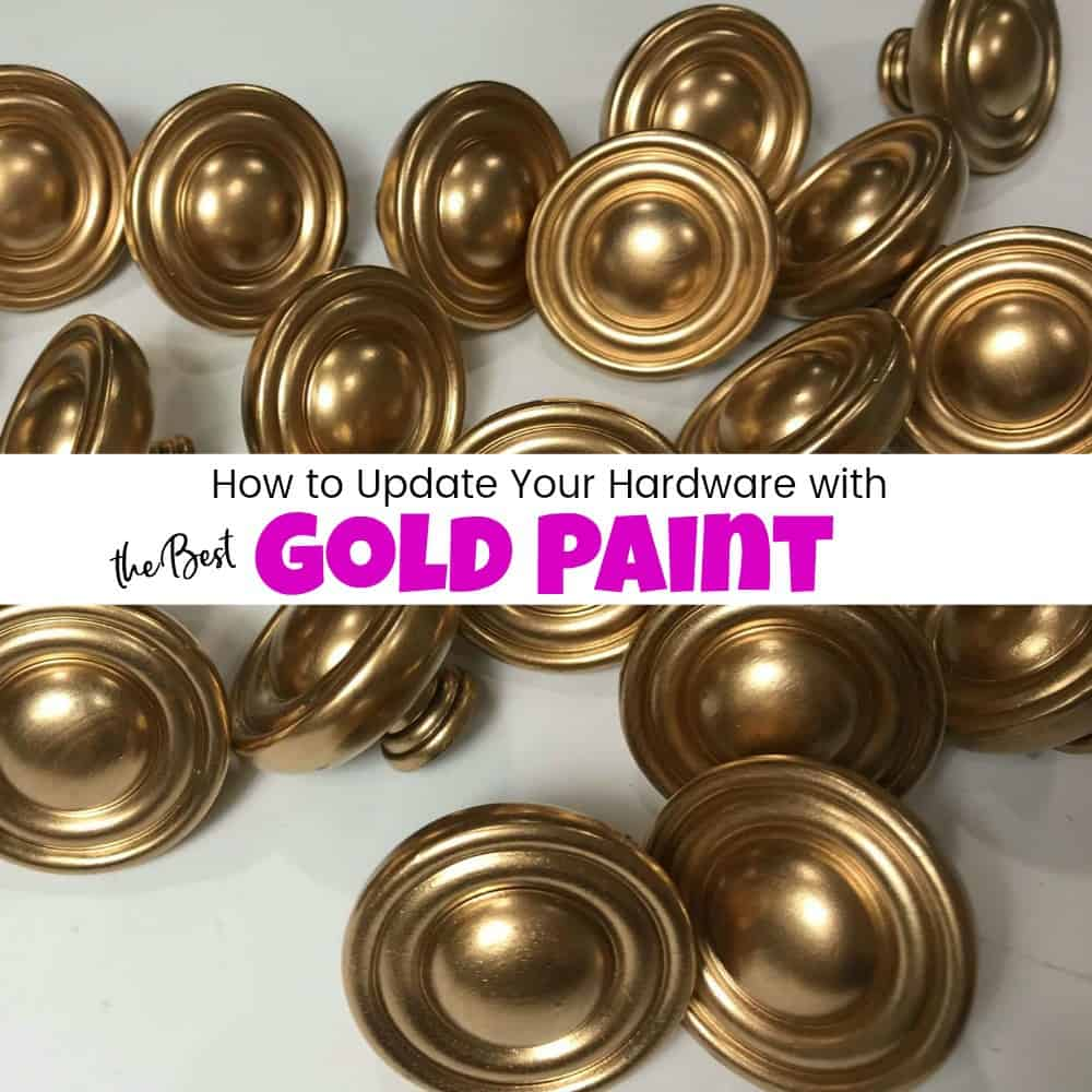 gold painted hardware