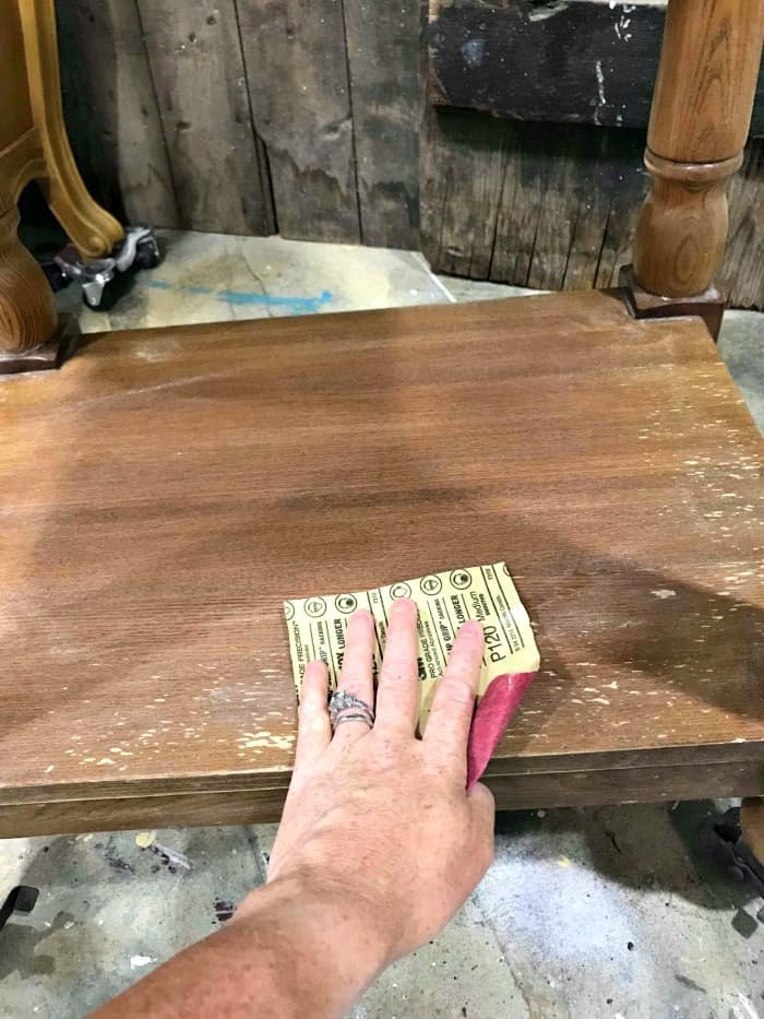 How To Distress Painted Wood For A, How To Paint And Distress Wood Furniture