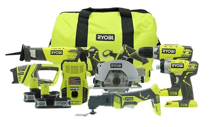 ryobi cordless diy tools, diy tools, power tool set, ryobi tools