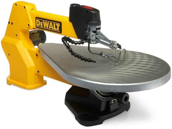 scroll saw, yellow scroll saw, dewalt scroll saw, woodworking tools, diy tools, must have woodworking tool