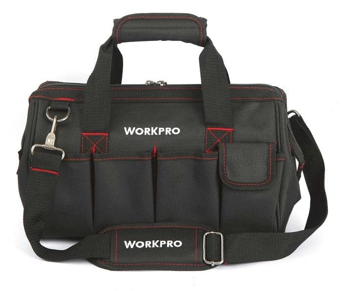 tool bag, black tool bag,
