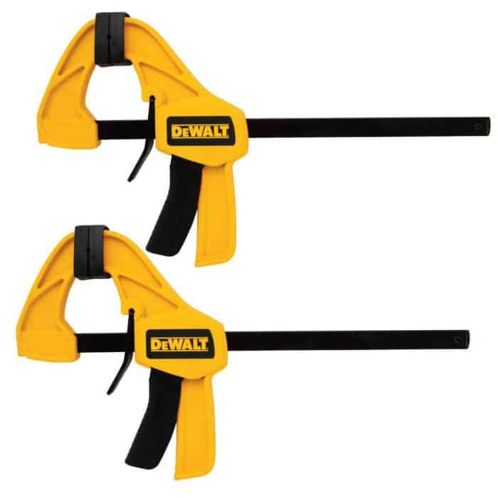 dewalt trigger clamps, diy tools