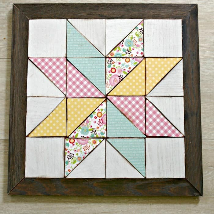 diy tools, wooden quilt block wall art