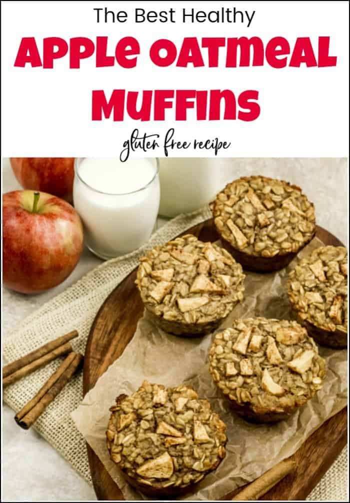 When looking for healthy breakfast muffins these apple oatmeal muffins are sure to please. This oatmeal muffin recipe packs a punch with apples and bananas. #appleoatmealmuffins #healthybreakfastmuffins #healthymuffinrecipes #healthybreakfastmuffinrecipes #bananaoatmuffins #healthyapplemuffins #glutenfreemuffins