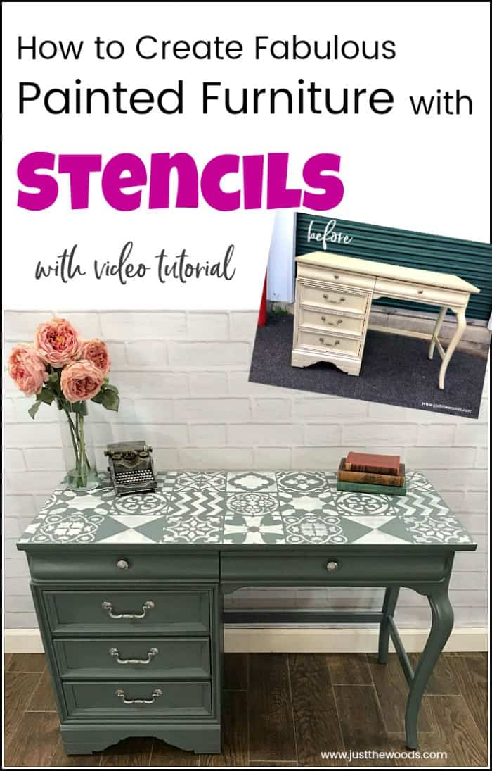 How To Create Fabulous Painted Furniture With Cutting Edge Stencils