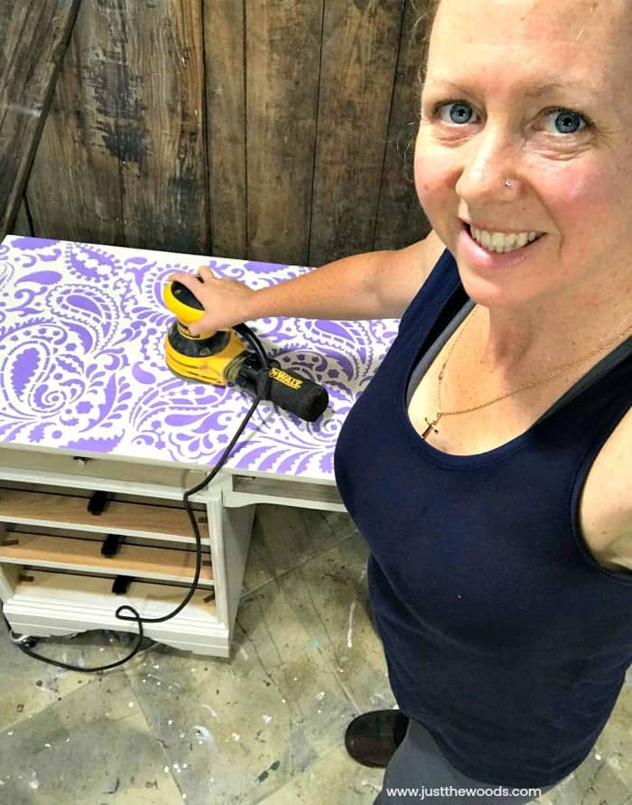 sand off paisley stencil pattern, stencil patterns, cutting edge stencils, dewalt orbital sander