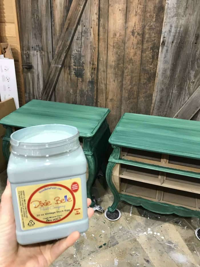 dixie belle paint, chalk paint, duck egg chalk paint, duck egg blue, vintage duck egg