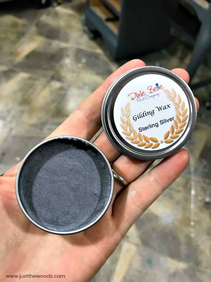 silver gilding wax, gilding wax, silver wax, dixie belle wax