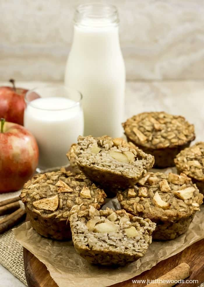 apple oatmeal muffins, healthy breakfast muffins, apple banana oat muffins, gluten free muffins