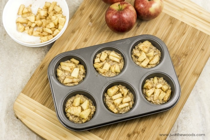 healthy oatmeal muffins, apple oatmeal muffins, apple muffins, apple breakfast muffins
