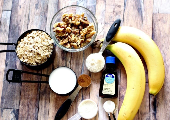 ingredients to make banana nut bread muffins, how to make banana nut bread muffins, banana nut bread recipe