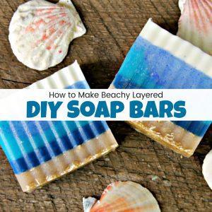 How to Make Beach Inspired DIY Soap Bars