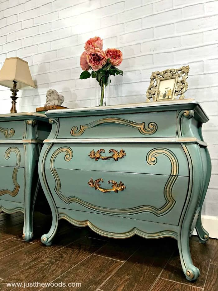 bombe chests, painted chest of drawers, vintage duck egg blue, painted furniture before and after