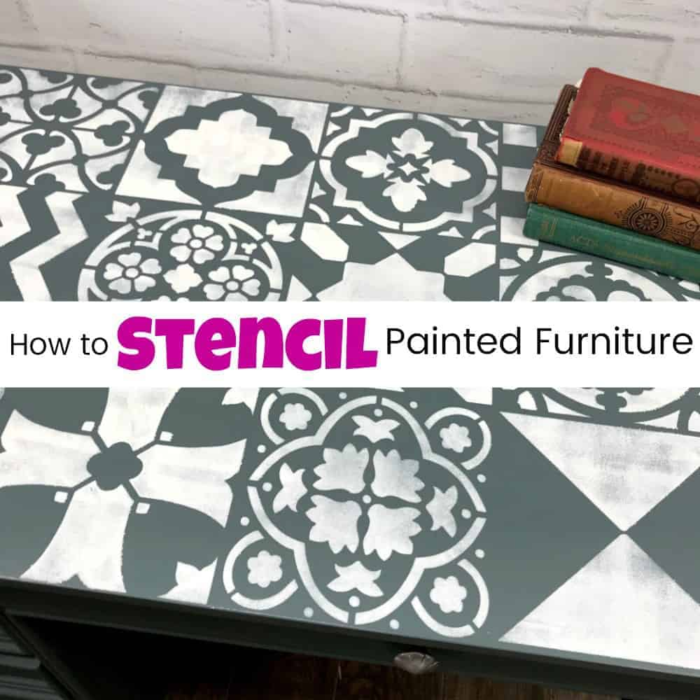 how to stencil painted furniture, stenciling furniture, stencil tutorial, stencil with paint